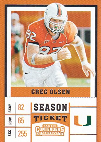 2017 Panini Contenders Draft Picks Football #41 Greg Olsen Miami - Greg Olsen Miami