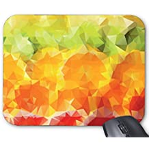 Mouse Mat Abstract gradient orange geometric creative background picture Mouse Pad 11.8X9.8 Inxh