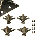 VintageBee 10 PCS Antique Brass Wood Case Jewelry
