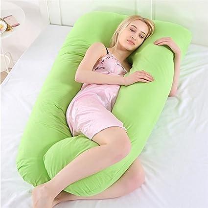 OurLeeme Almohadas para el Embarazo, Forma de U, Cuerpo Completo, Almohada de Apoyo para el sueño, Maternidad de enfermería, Almohada Ultra Suave con ...