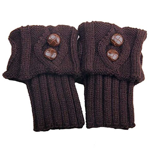 UPC 749501631572, HP95(TM)Fashion Women's Crochet Knitted Leg Warmers Button Down Boot Cuffs Toppers (Coffee)