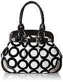 MG Collection Lazuli Mod Circle Bowler Satchel Handbag, Black, One Size