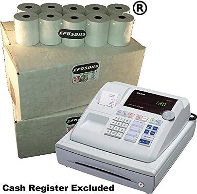 eposbits® marca 80 rollos – 4 cajas para Casio pcr262 PCR 262 pcr ...