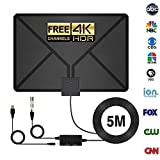 HDTV Antenna,Indoor antenna,Antenna TV Digital HD ,90 Miles Range with Support 4K 1080p & All Older TV's for Indoor with Powerful HDTV Amplifier Signal Booster-2018 Upgraded Version