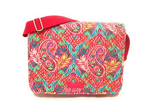Laptop Vera Bradley - Vera Bradley Laptop Messenger Crossbody Bag Paisley in Paradise