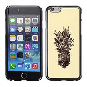 For Apple iPhone 6(4.7 inches) Case , Skull Tattoo Art Drawing - Diseño Patrón Teléfono Caso Cubierta Case Bumper Duro Protección Case Cover Funda