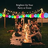 Strong Premium Quality LED Light Up Balloons by Better Line - 36 Party Pack - Flashing LED Lights -Latex Balloons in Assorted Colors Inflate Up to 12 Inches (30cm) - Pull the Tab and Balloons Glow