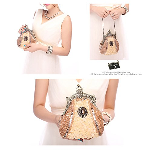 Clutch Purse Beads Antique Seed Clutch Harson Bag 02 Evening Prom Handbag Wedding Party amp;Jane Bags qO7tOwfypE