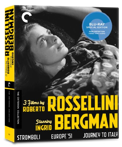Blu-ray : 3 Films By Roberto Rossellini Starring Ingrid Bergman (Criterion Collection) (Black & White, Collector's Edition, , Widescreen, 4 Disc)