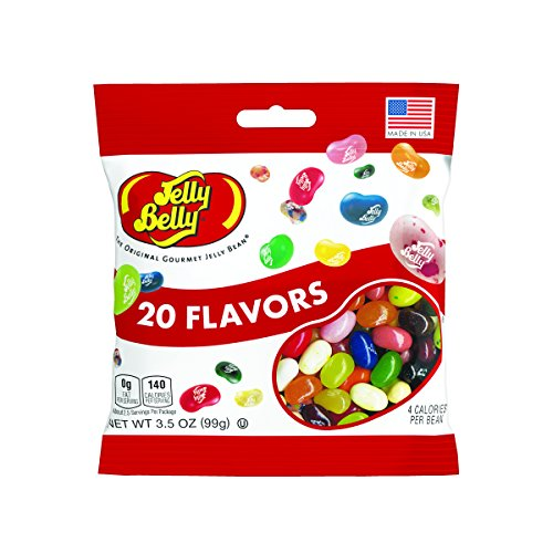 Jelly Belly Jelly Beans, 20 Flavors, 3.5-oz, 12 - Jelly Orange Sherbet