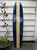 Five foot surfboard wall hanging. Navy blue with beach yellow.