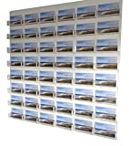 Source One 48-Pocket Wall Mount Business Card Holder (All Clear)