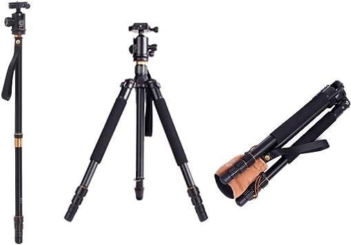 Andoer Q999 Pro trípode y monopié de aleación de aluminio para cámaras réflex SLR, Rótula de bola, portátil, desmontable, intercambiable, de viaje: Amazon.es: Electrónica