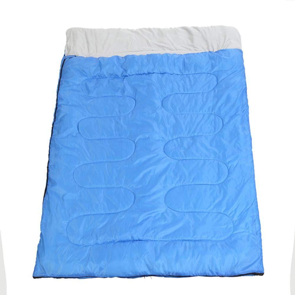 Sweety Bolsas de Dormir Doble Sobre algodón Impermeable Adulto Saco de Dormir Adecuado para al Aire Libre Camping Camping Tour Interior Almuerzo Descanso Dormir Bolsa de 210 * 150cm