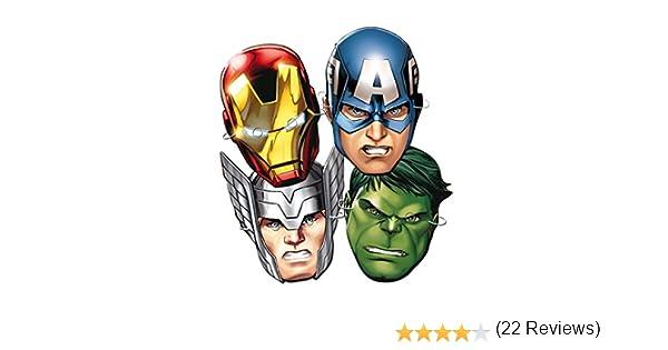 Los Vengadores - 6 caretas superheroes, bolsa (Verbetena 014300065)