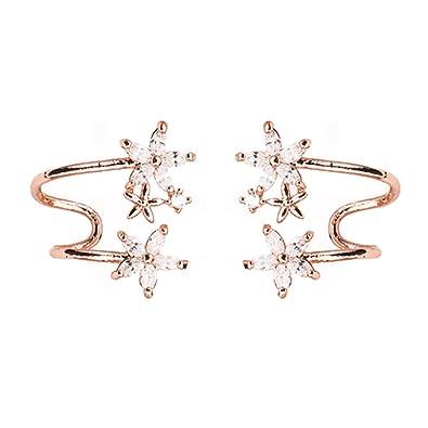 prezzo ridotto ultima moda stile unico Dana Carrie Curva di fiori argento 925 orecchini personalità ...