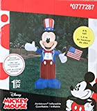 Disney 4th of July Mickey Mouse Airblown Inflatable - 4 Foot Tall - Lights Up!