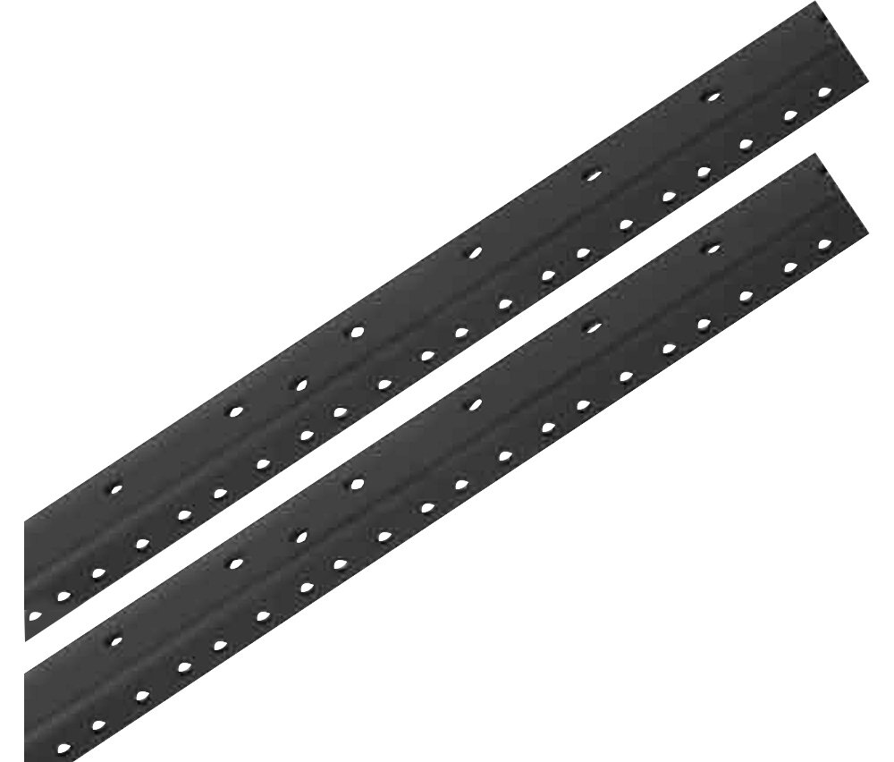Raxxess Rack Rails (Pair) Black 6 Space RKRL6