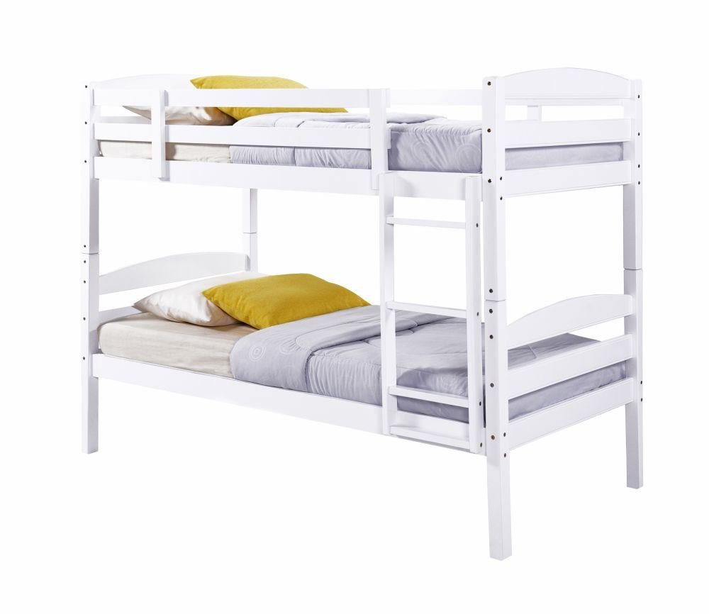 Litera de Chatsworth, de madera blanca con un acabado moderno y colchones para niños; marca Happy Beds, Blanco, 3FT - Frame Only: Amazon.es: Hogar