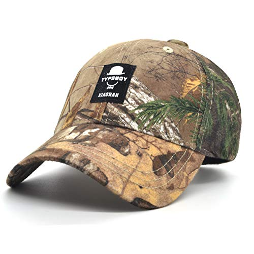 (Low Profile Baseball Cap Unisex Women Trucker Hat Men Plain Silk Cotton Cap Realtree Camouflage Camo Adjustable Cap Outdoor Sport Hunt Cap (Forest caom(Star)))