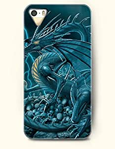 OOFIT Phone Case Design with Evil Dragon and Skull for Apple iPhone 4 4s 4g