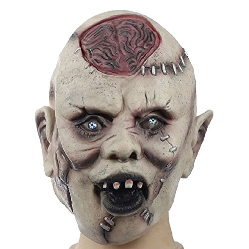 Scary Mask - Halloween Horror Masks Adult Costume Latex Party Scary Mask Cosplay Prop Fancy Dress Decor - Horror Cosplay Masks Mask Scary Party Masks Halloween Latex Mask Dress Sexy -