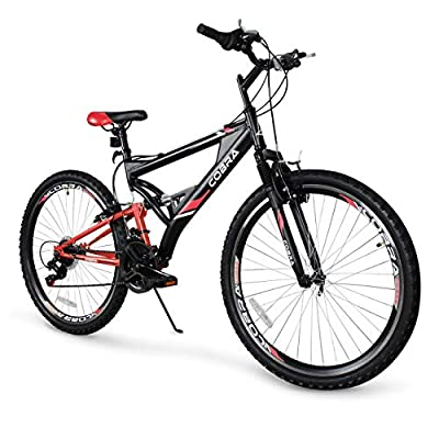 """Akonza Cobra 26"""" Mountain Bicycle Full Suspension 7-Speed Compatible Outdoor MTB Bike"""