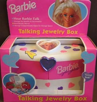 Amazoncom Barbie Talking Jewelry Box w Beauty Mirror 1995 Toys