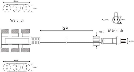 Außenbereich VBLED© LED 6-fach-Verteilerkabel 2m 12V