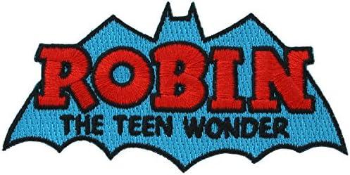 DC Comics 【ワッペン ★アイロン アップリケ★ DCコミックス/BATMAN バットマン/ロビンROBIN THE TEEN WONDER/P-DC-0051】 【並行輸入品】