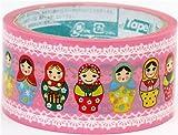 pink big Matryoshka Deco Tape Russian doll