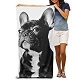 Super Absorbent Beach Towel French Bulldog Polyester Velvet Beach Towels 31.551.2 Inch