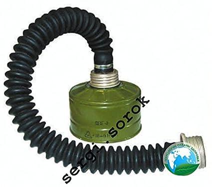 Manguera de Gas máscara militar ruso 40mm con filtro GP-5/GP-7