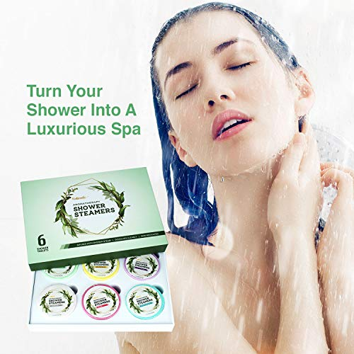 Viebeauti Shower Steamers, Eucalyptus Scented Aromatherapy Shower Steamers, Shower Bomb, Aromatherapy Vapor Steam Tablets