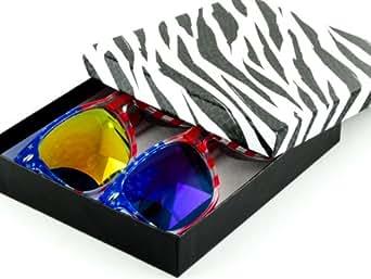 MJ Eyewear American Flag Wayfarer Sunglasses Glasses - Blue & Yellow