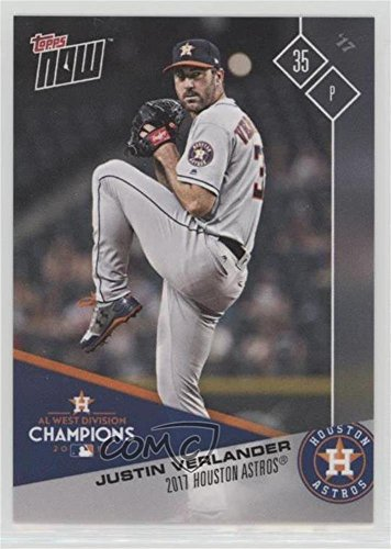 Justin Verlander (Baseball Card) 2017 Topps Now - Topps Online Exclusive Houston Astros AL West Champions - Justin Online