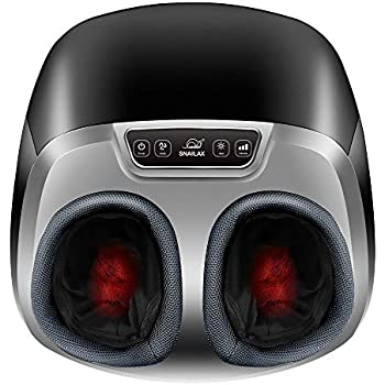 Snailax Shiatsu Foot Massager with Heat - Electric Foot Massage Machine with Air Compression Rolling Kneading Massage and Foot Warmer, Ideal Gifts for Men and Women