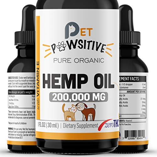 Pet Pawsitive Hemp Oil
