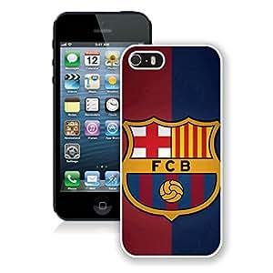 Barcelona 1 White Fantastic Design iPhone 5 5S Cover Case