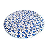 Multi-size Print Round Carpet Area Floor Rug Doormat LivebyCare Coral Fleece Entrance Entry Way Front Door Mat Runner Ground Rugs for for Decor Decorative Drawing Room