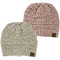 Funky Junque CC Confetti Knit Beanie - Thick Soft Warm Winter Hat - Unisex