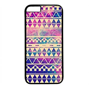 "Galaxy Space Aztec Tribal Pattern Theme Case for iPhone 6 Plus (5.5"") PC Material Black by runtopwell"