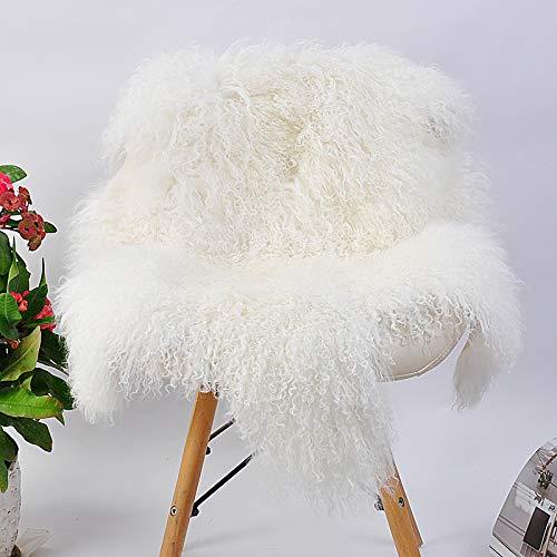 Large Long Wool Pile Sheepskin Rug Luxurious Lambskin Rug Genuine Sheepskin Rug Sheep Curly Fur Sheepskin shag Rug Curly Sheep Fur Carpet 40'' by 25