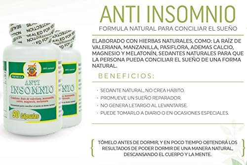 Amazon.com: Anti Insomnio, capsulas naturales para conciliar el ...