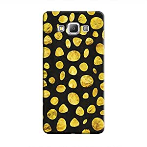 Cover It Up - Black Gold pebbles Galaxy A3 Hard case