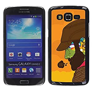 Design for Girls Plastic Cover Case FOR Samsung Galaxy Grand 2 Doing Good Colorful Face OBBA