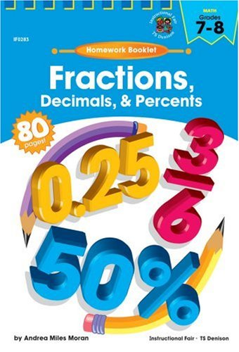 Cent Booklet (Fractions, Decimals and Percents Homework Booklet, Grades 7 - 8 (Homework Booklets))