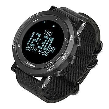 0dc89eba656a SUNROAD Reloj deportivo de escalada Podómetro Barómetro Altímetro Brújula  Impermeable reloj inteligente al aire libre para Camping