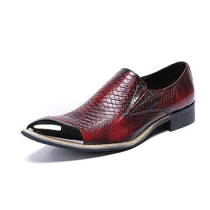 Zapatos de hombre, zapatos de punta de cuero, zapatos de negocios de otoño /