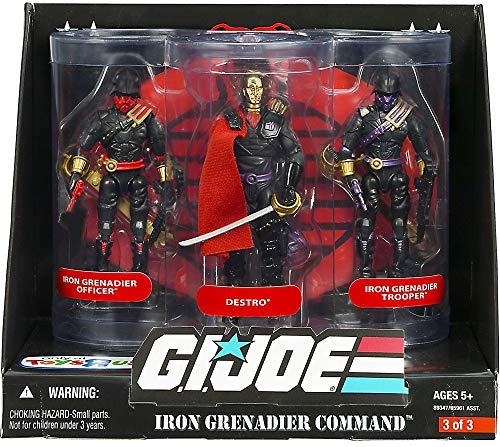 (G.I. Joe 25th Anniversary: Iron Grenadier Command Exclusive Boxed Action Figure 3-Pack: Destro, Iron Grenadier Officer & Trooper )